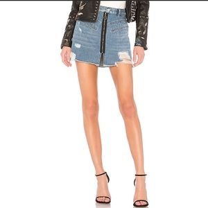 Blank NYC Hyped Up Distressed Denim Skirt 26